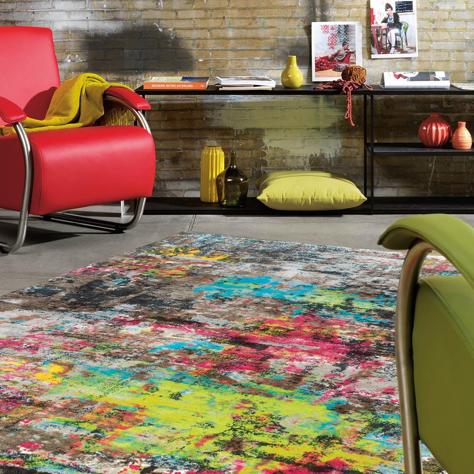 The Action Art Rug by Arte Espina offers an eye catching abstract ...