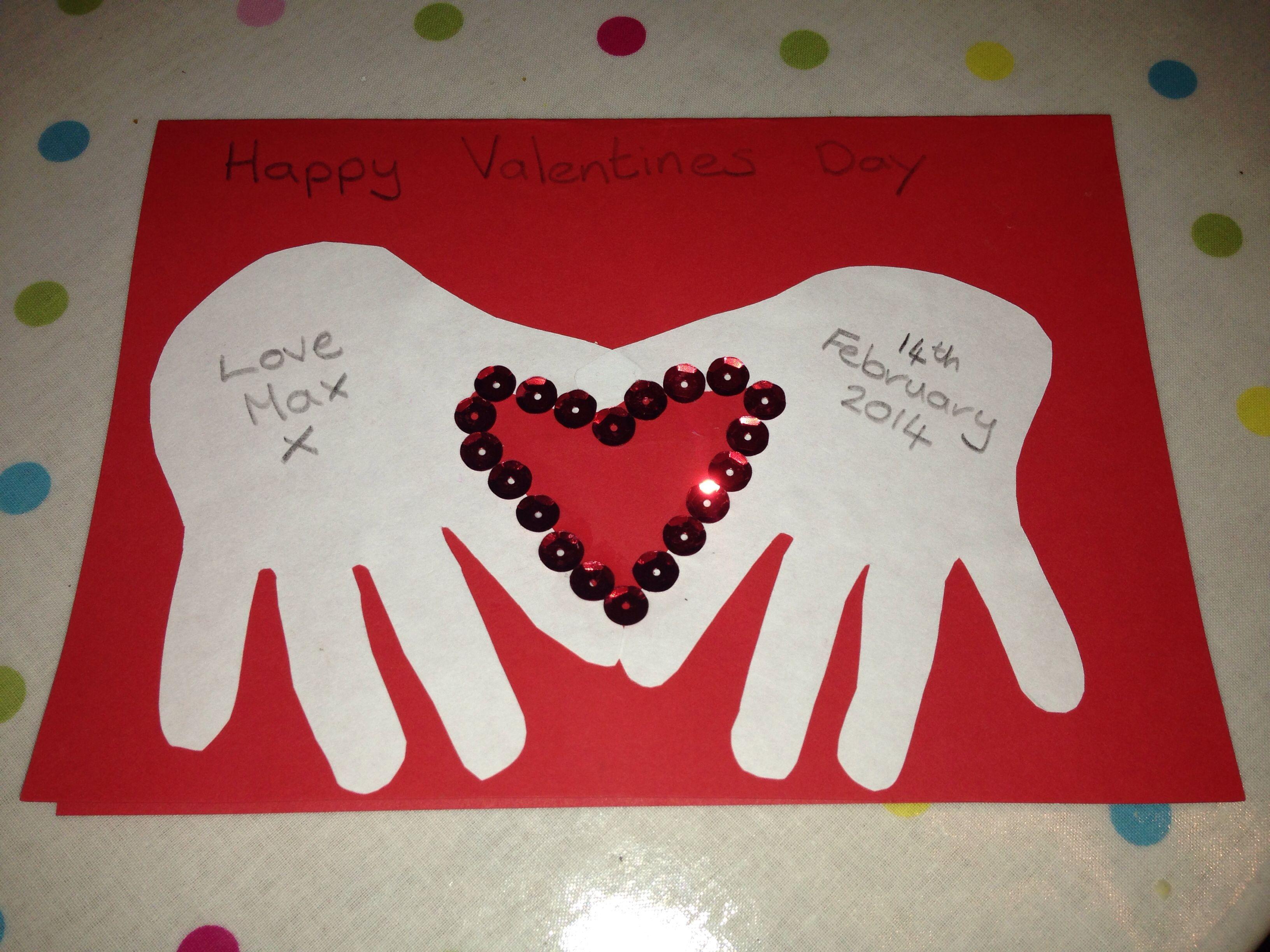 Valentines card st valentin pinterest id e cadeau - Cadeau pour parents a fabriquer ...