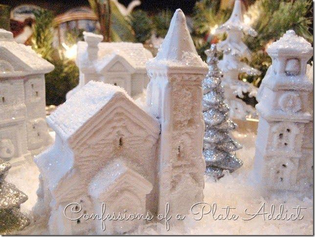 Last Minute Christmas...DIY Dollar Tree Snow Village ...