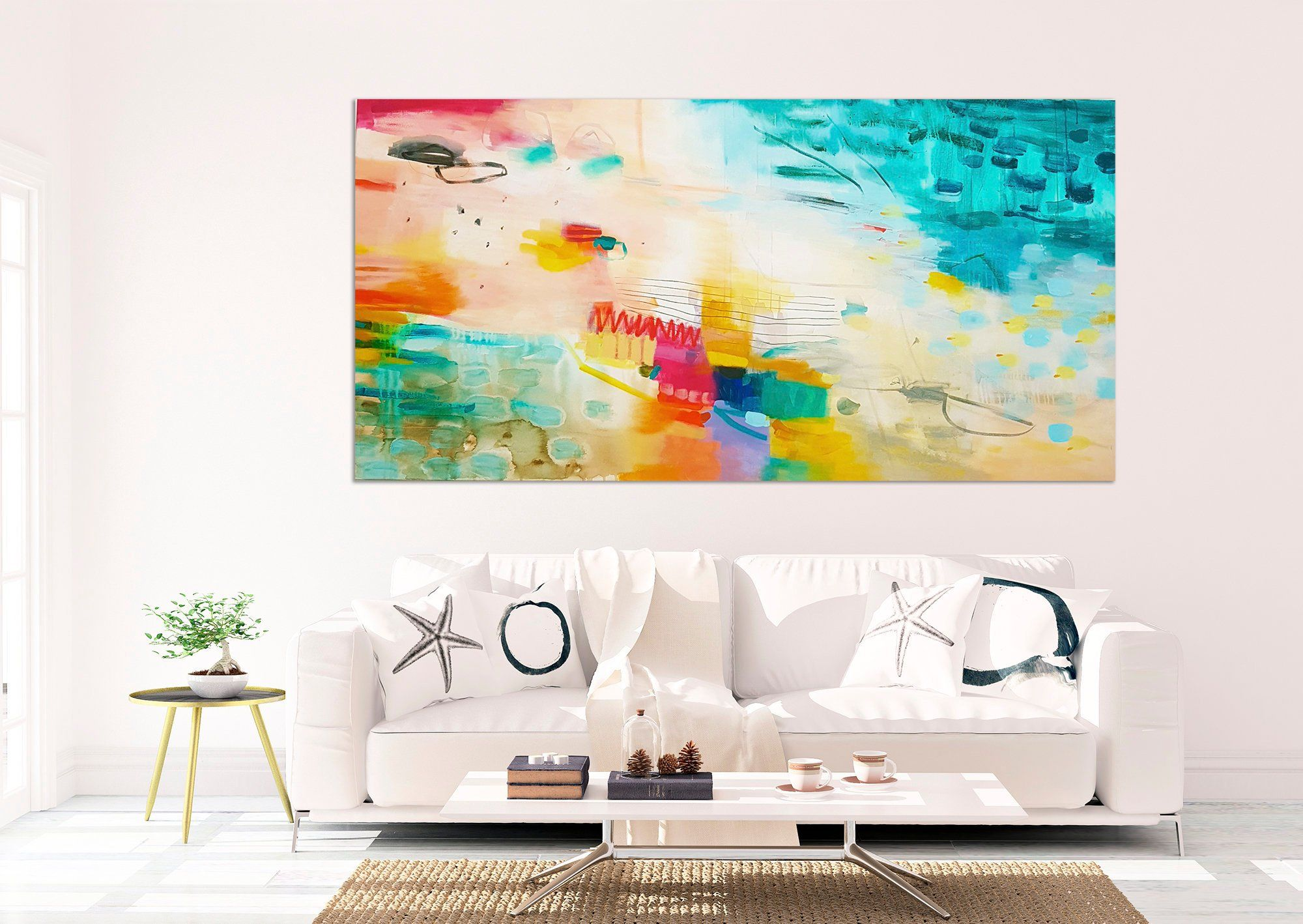 Extra Large Abstract Painting Large Wall Art Colorful Modern Canvas Art Large Wall Art Abstract Wall Art
