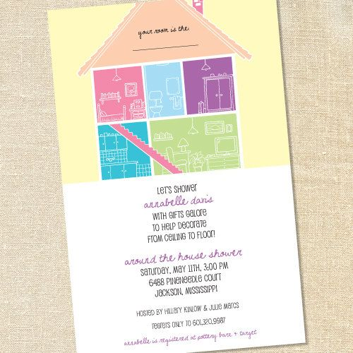 around the house invitations for bridal showers room to room housewarmings his hers by sweet wishes stationery