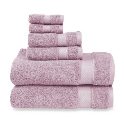 Wamsutta 6 Piece Hygro Duet Bath Towel Set In Orchid Ice Towel