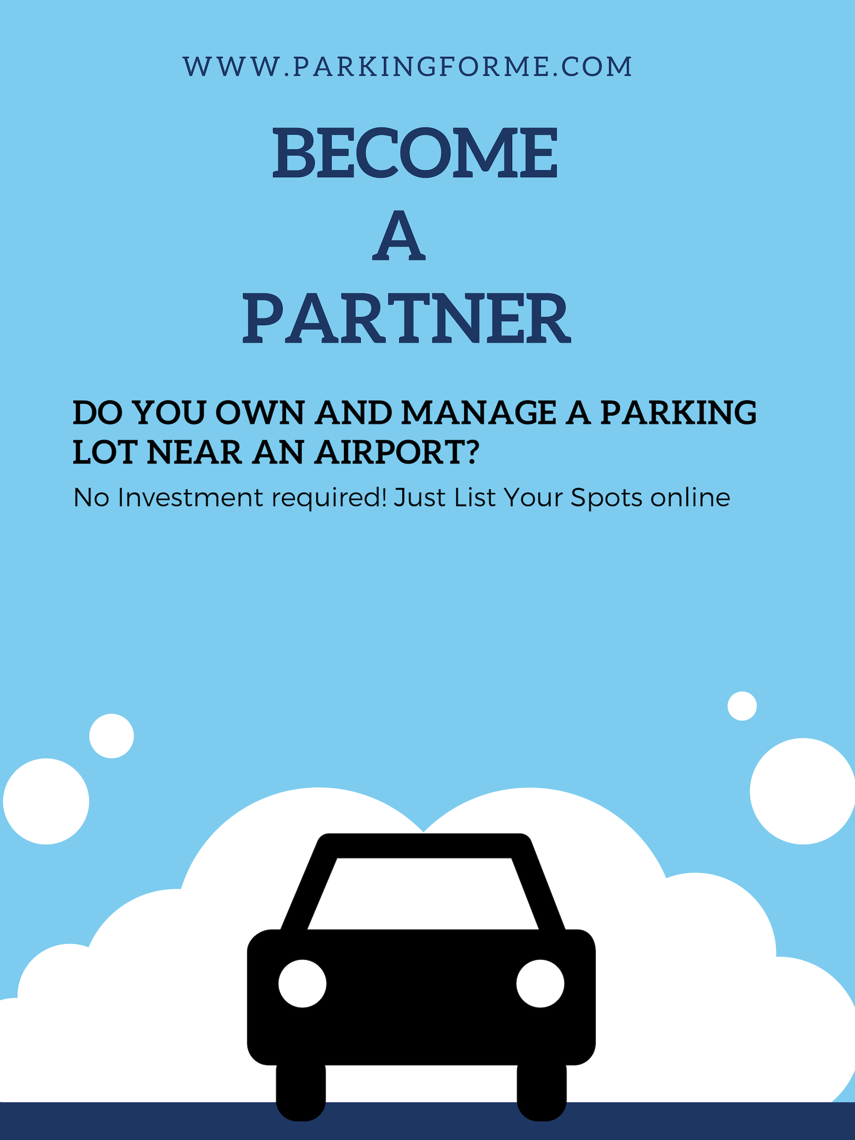 Do you own or manage a parking lot/garage near the Airport