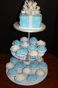 Kroger Baby Shower Cakes | Cupcake_cake_ideas_for_baby_shower 200x300