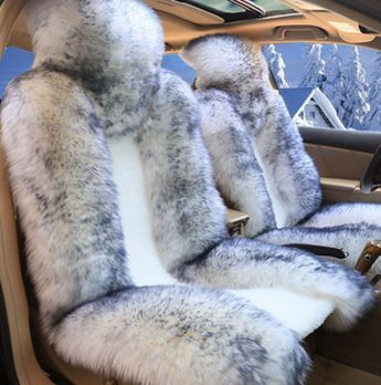 Pink Fur Seat Cover