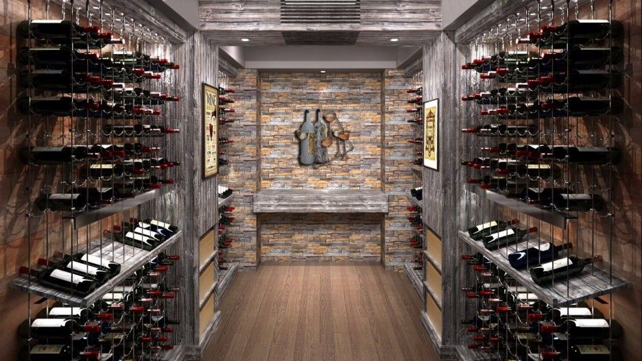 Decorating. Good Looking Diy Wine Cellar Decoration Ideas. Engaging Diy Wine  Cellar Design Ideas Renaissance Wrought Iron Wine Cellar Feature Stone Wall  ...