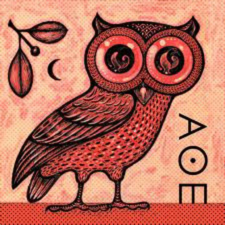 Goddess Athenas Owl Wisdom Greek Mythology Tattoos