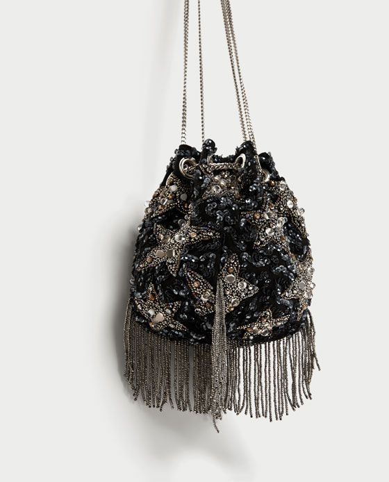 Image 3 of BEADED STARS CROSSBODY BUCKET BAG from Zara