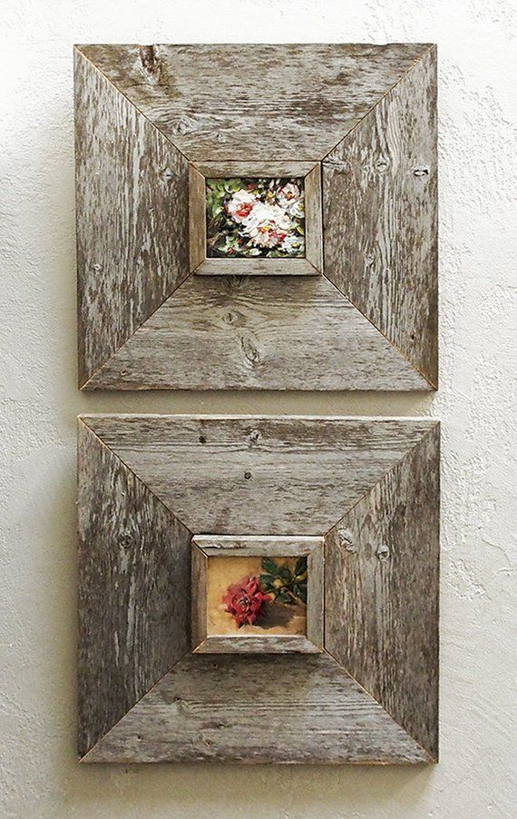 3 X 5 Inch Custom Barn Wood Frames Old Barn Wood Recycled