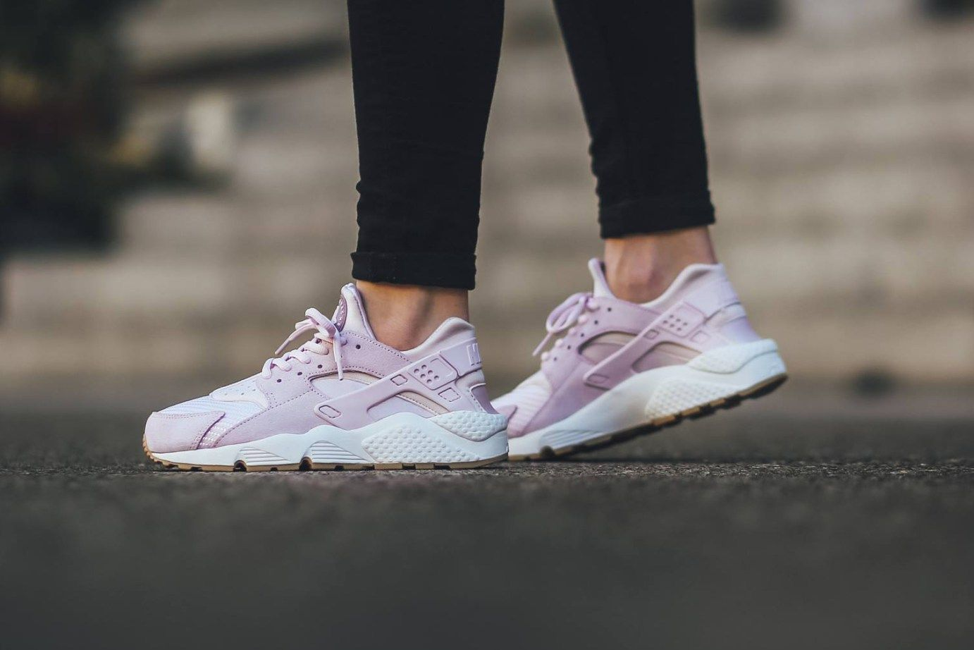 Nike WMNS Air Huarache Run Textile  Bleached Lilac  is part of Nike air huarache - Nike WMNS Air Huarache Run Textile  Bleached Lilac  A sleek, pastel iteration of the fan favorite sneaker