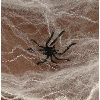 HALLOWEEN SPIDER WEBS  WEBBING + Spiders - FULL 12 Pack - spider web decoration for halloween