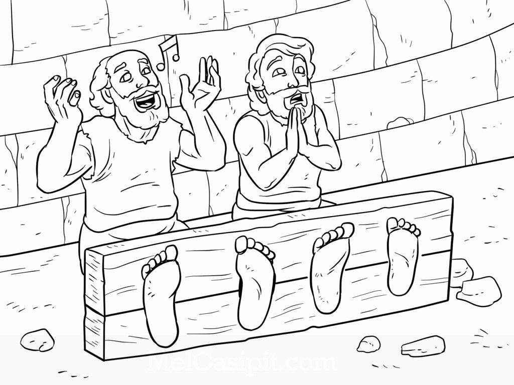 Paul And Silas In Jail Coloring Page New Paul And Silas