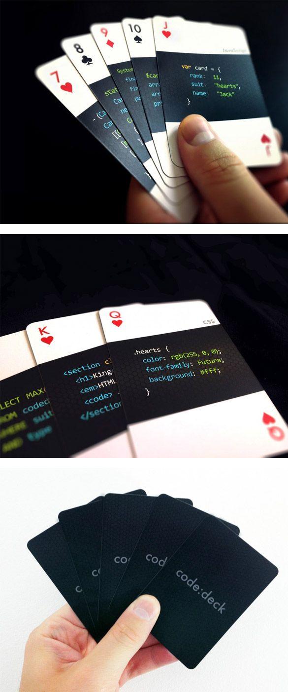 Codedeck Le Jeu De Cartes Pour Webdesigners Et Dveloppeurs En Plus
