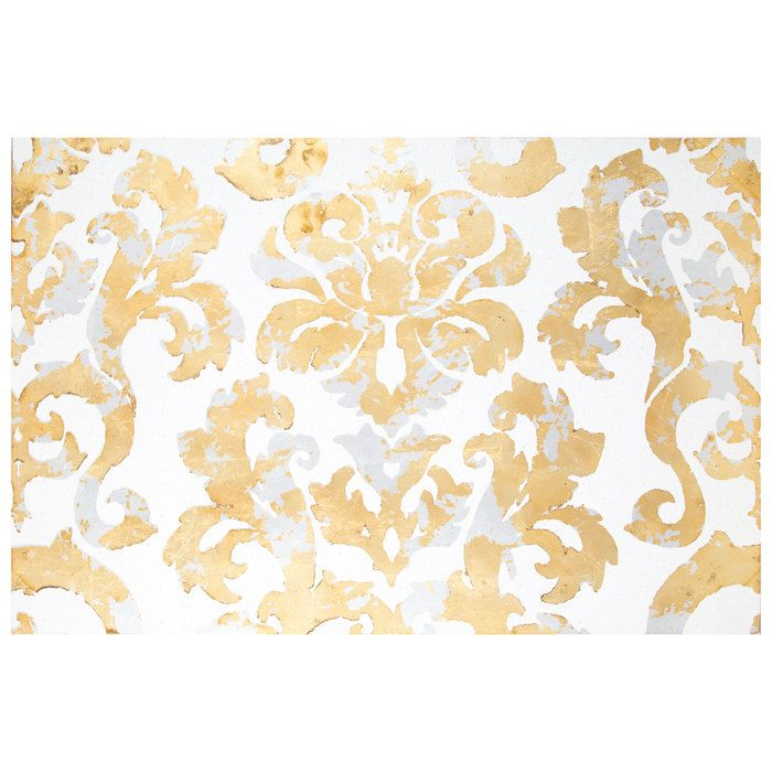 Damask Foil Canvas Wall Decor | Wall Art | Pinterest | Canvas wall ...