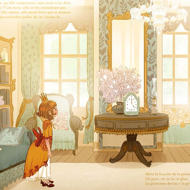 """Julie Rouvière en Instagram: """"Between the pages of my future comic strip Peter Pan, I illustrated a children's book """"La princesse sans bouche"""" from which here i… en 2020"""