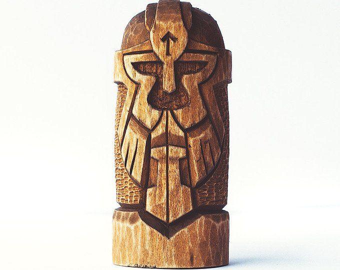 Odin wooden statue hand carved wooden figurine odin