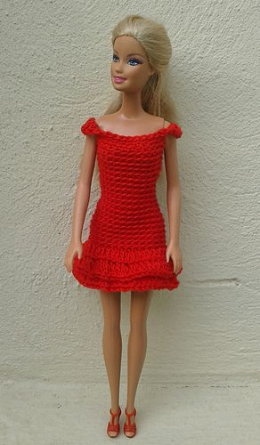 Barbie in Red Dresses pattern by linda Mary