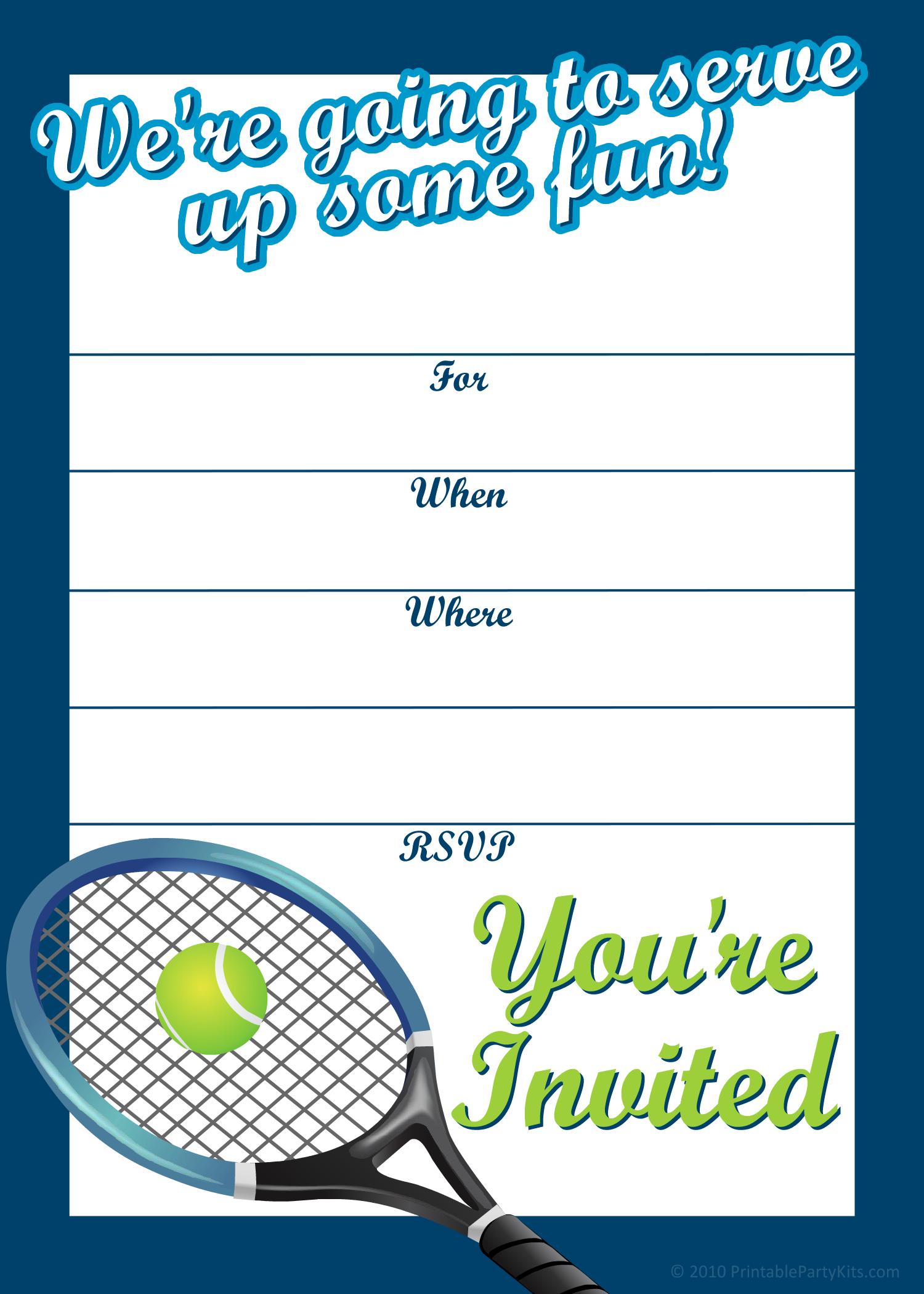 Free Printable Sports Birthday Party Invitations Templates ...