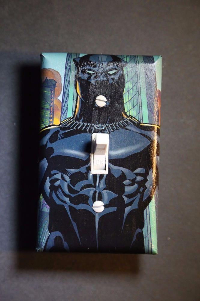 Black Panther Avengers Light Switch Boys Kids Comic Book Superhero
