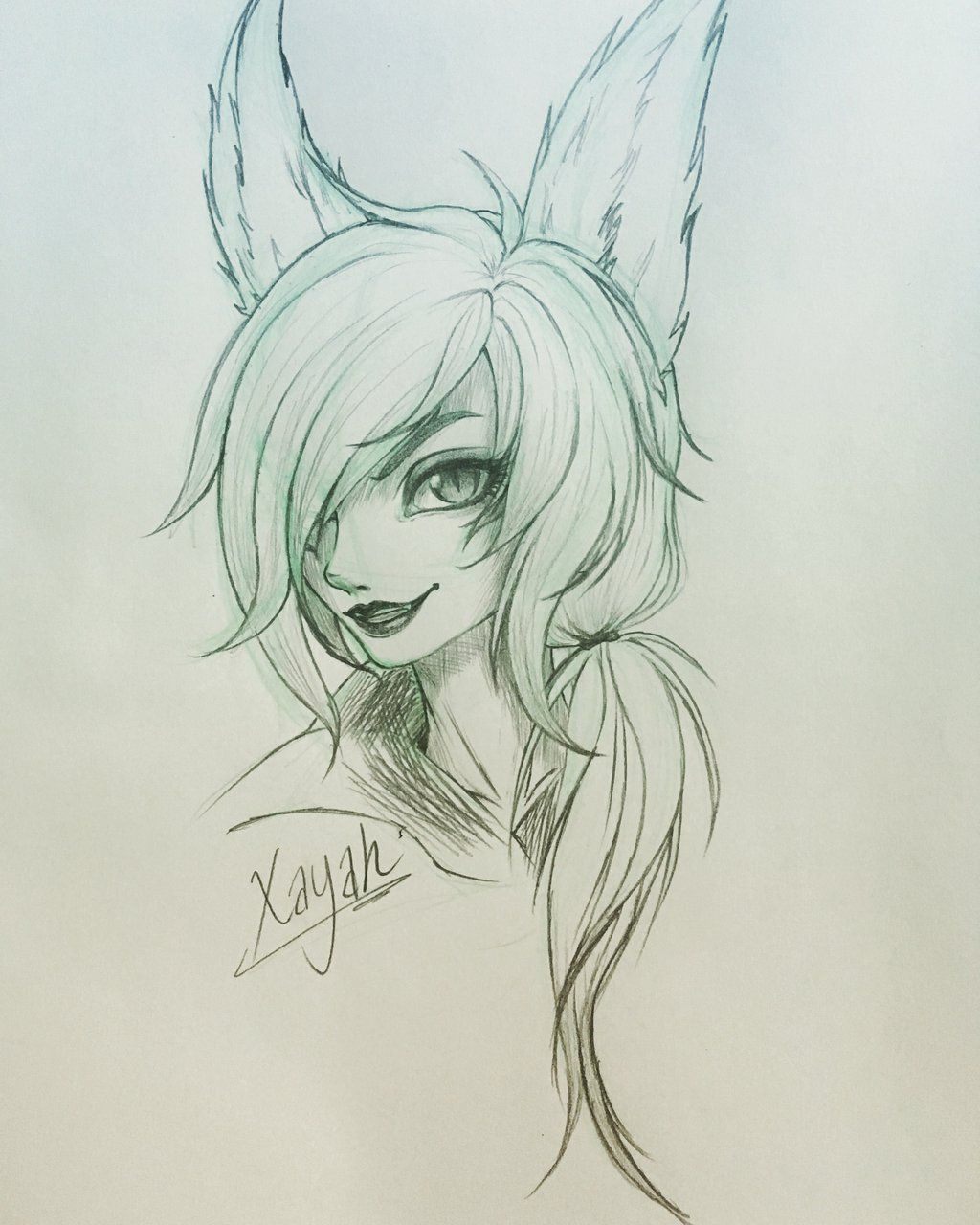 Xayah fan art by jamiemin
