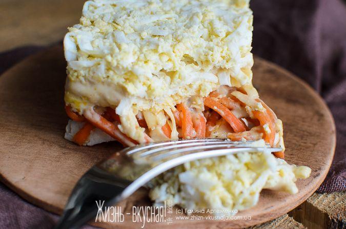 салат бунито с корейской морковкой рецепт, салат с ...