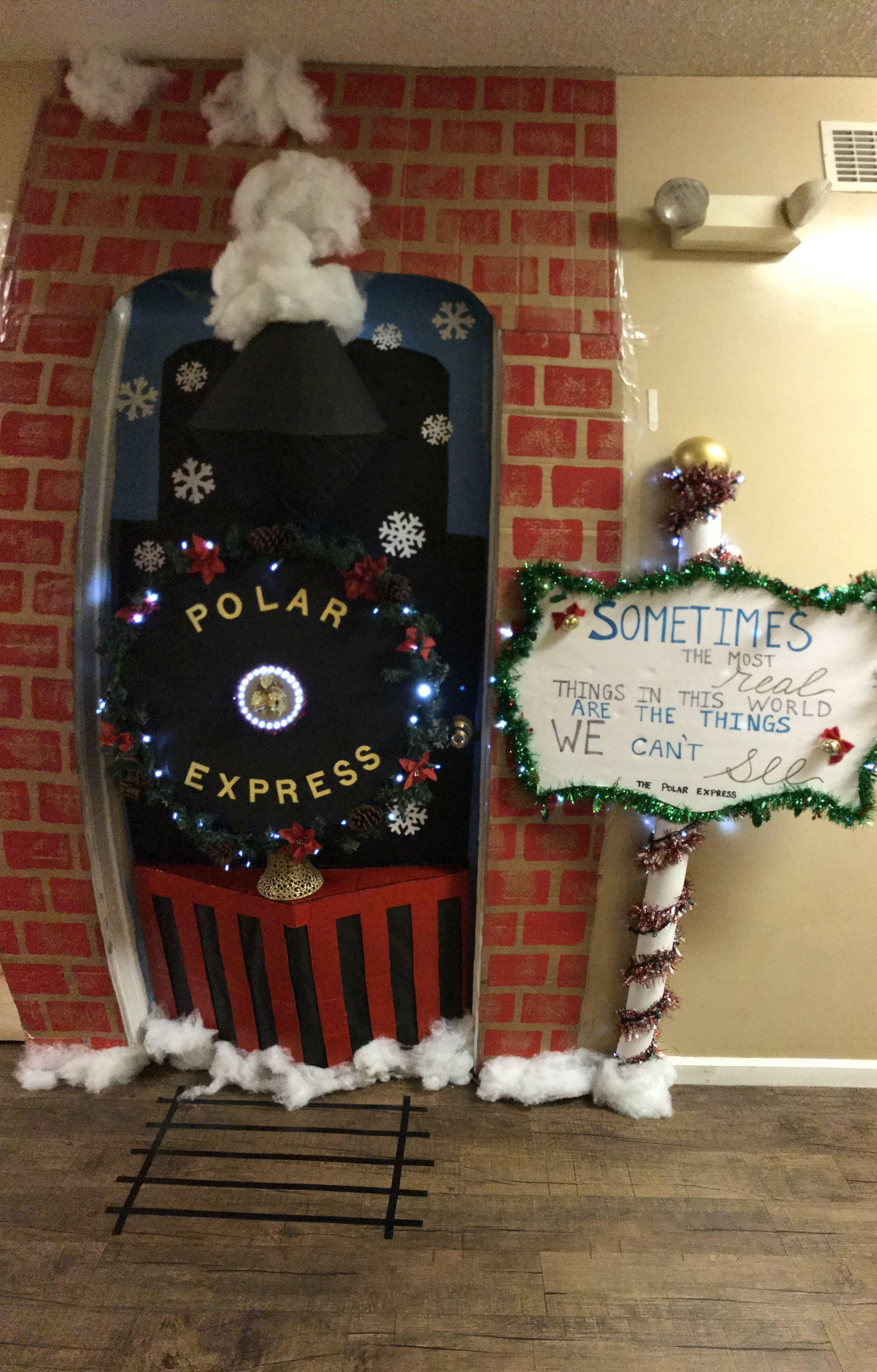 Polar Express Door Christmas Door Office Christmas Decorations