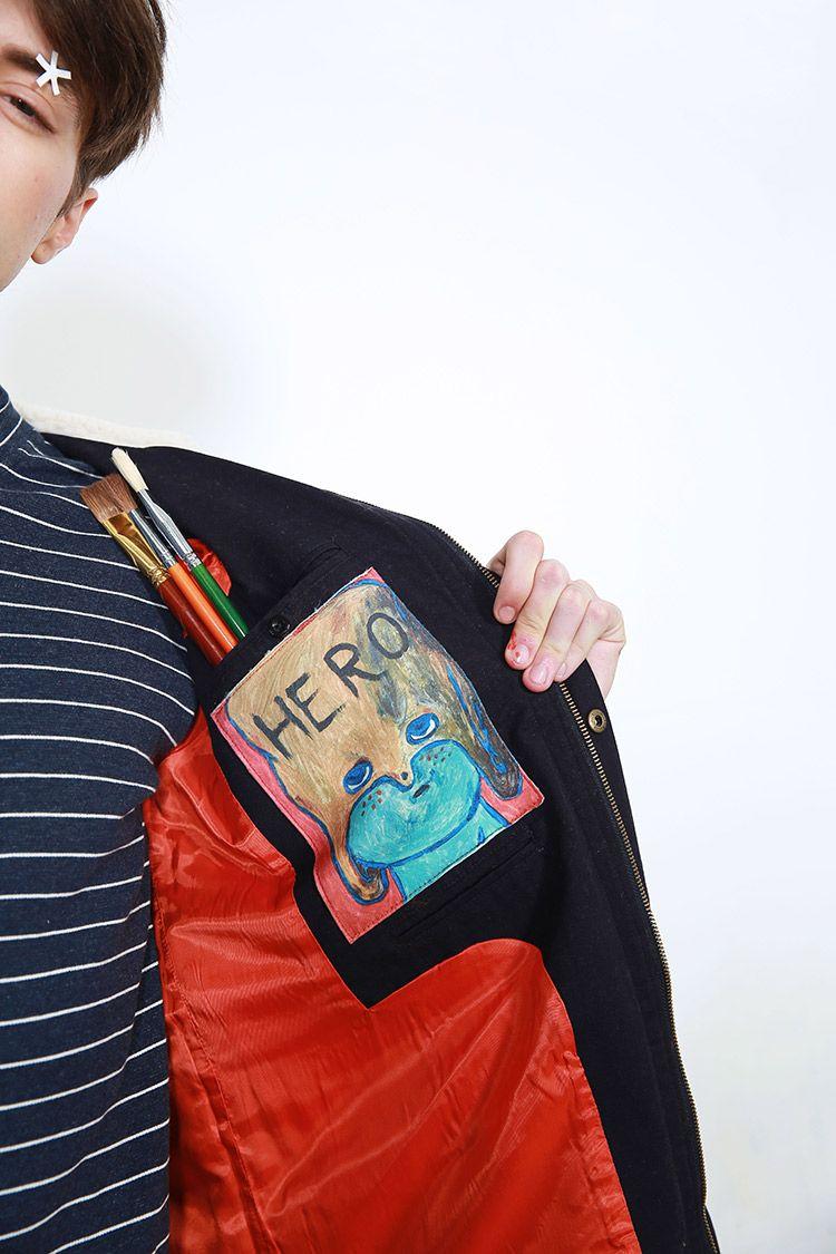 TYAKASHA2015AKA系列男款蓝色数码印花内口袋外套57-tmall.com天猫