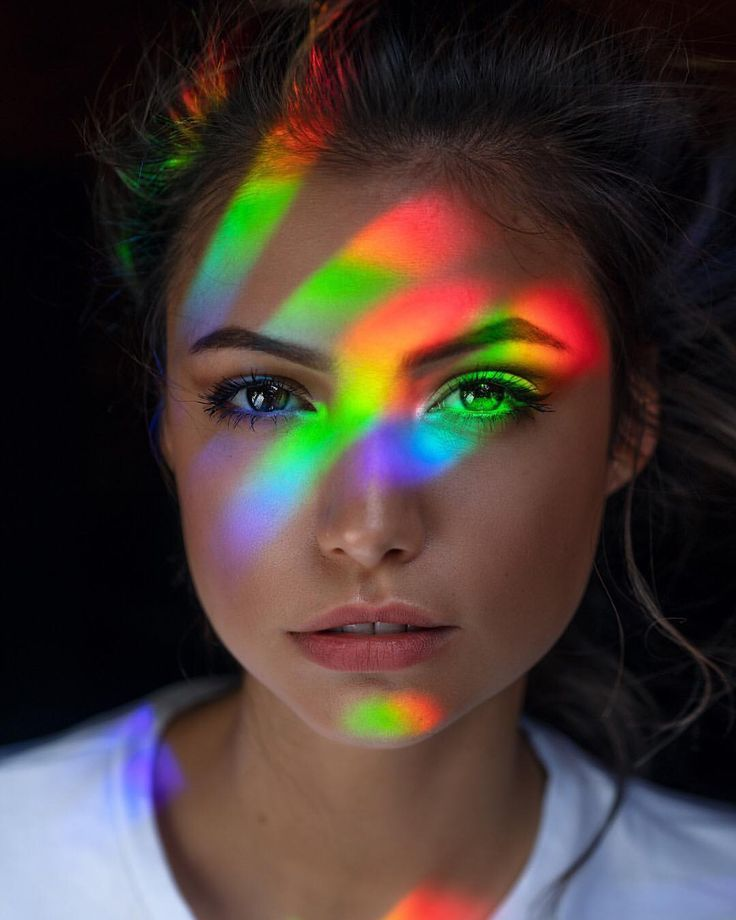 Regenbogen Porträt kreativ Inspiration