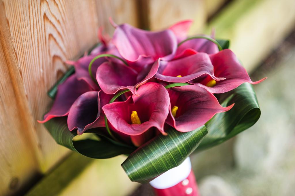 Real Touch Burgundy Calla Bridal Bouquet Flower bouquet