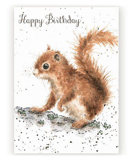 Wrendale Designs By Hannah Dale Happy Birthday Squirrel