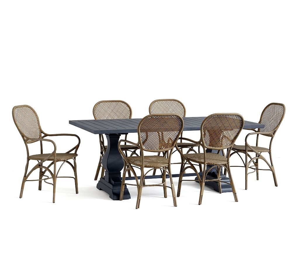 Round Table Alameda.Alameda Dining Table 6 Brea Chair Set Zinc Products In 2019