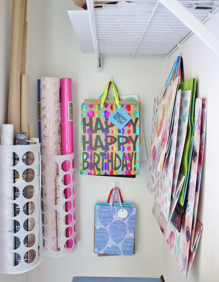 Ikea Bag Holder As Wring Paper Storage Command Hooks To Hold Gift Bags