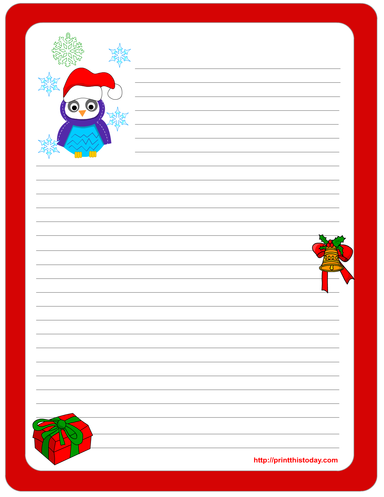 Owl Christmas Printable Stationery, Bookmarks, Candy Wrappers, Labels And  More :)  Free Printable Christmas List Template