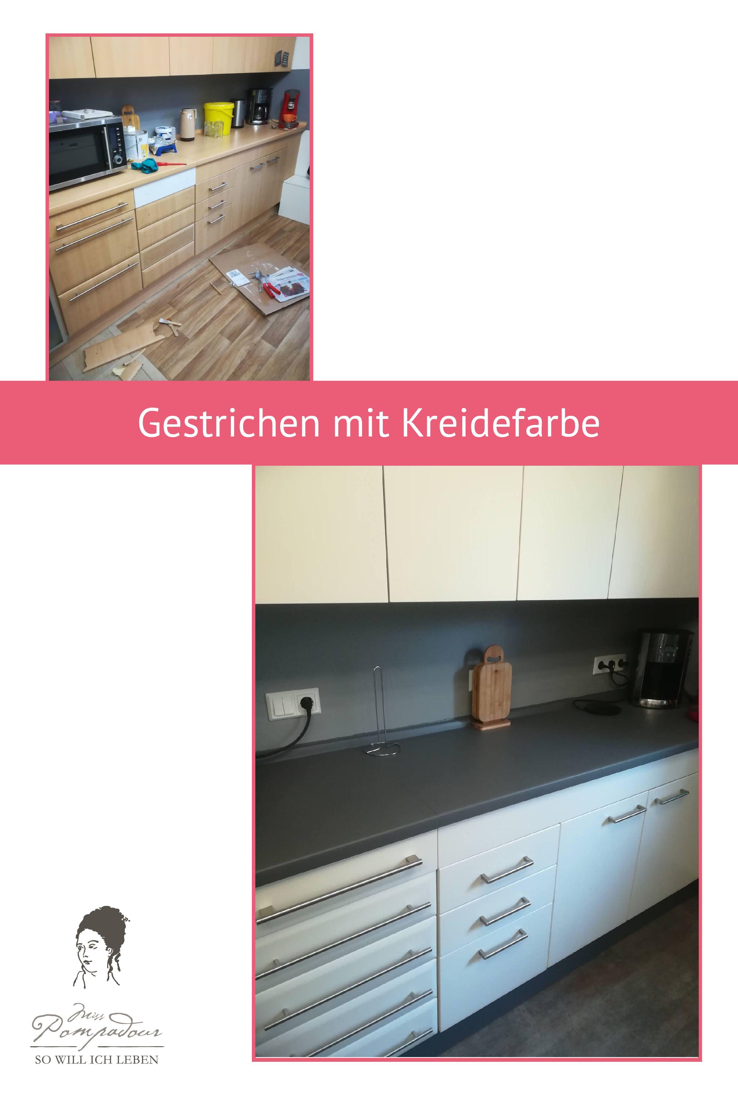 Küche streichen mit Kreidefarbe und Kreidelacken  Küchen