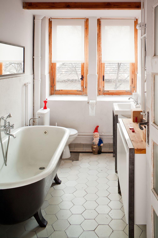 Mała łazienka W Stylu Retro W Dobrym Stylu łazienka