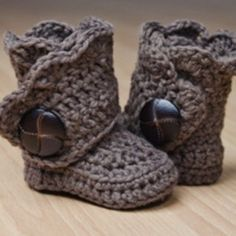 Crochet Wrap Around Button Baby Boots Girls And Boys Kryuchkom