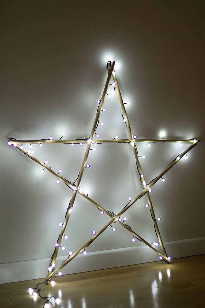 DIY Haz tu estrella de Navidad de luces, con Leroy Merlin - Luces De Navidad