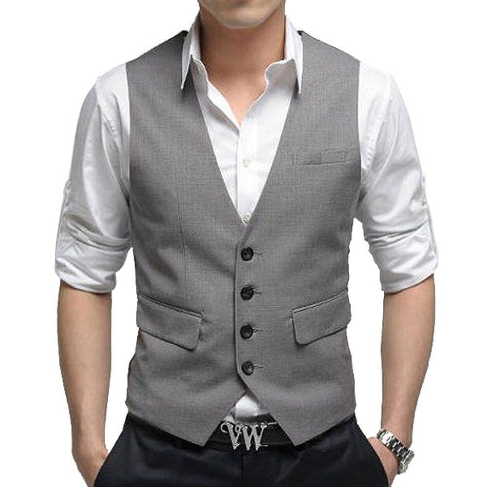 NEW Fashion waistcoat Men's Suit Vest Top Slim & Fit Luxury ...