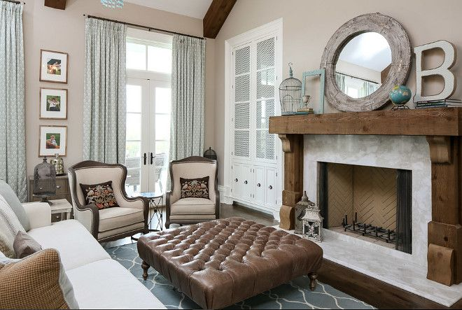 Reclaimed Wood Fireplace And White Marble Ideas ReclaimedWoodFireplace Artisan Signature Homes
