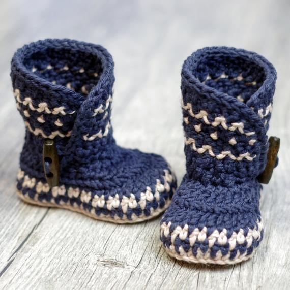 Photo of Crochet Patterns – Dakota Baby Boot – Boy – Girl –  Instant Download –  PDF kc550