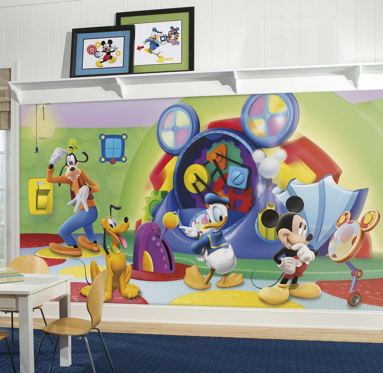 Mickey Mouse Clubhouse Capers Mural Wall Sticker Shop Walltastic Disney  Wallpaper Part 40