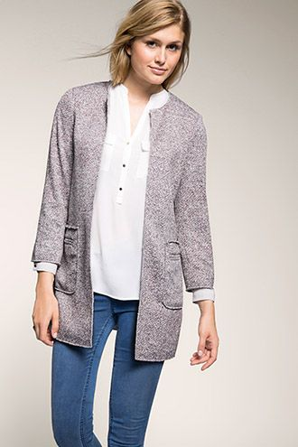 Esprit - marled summer bouclé knitted coat at our Online Shop