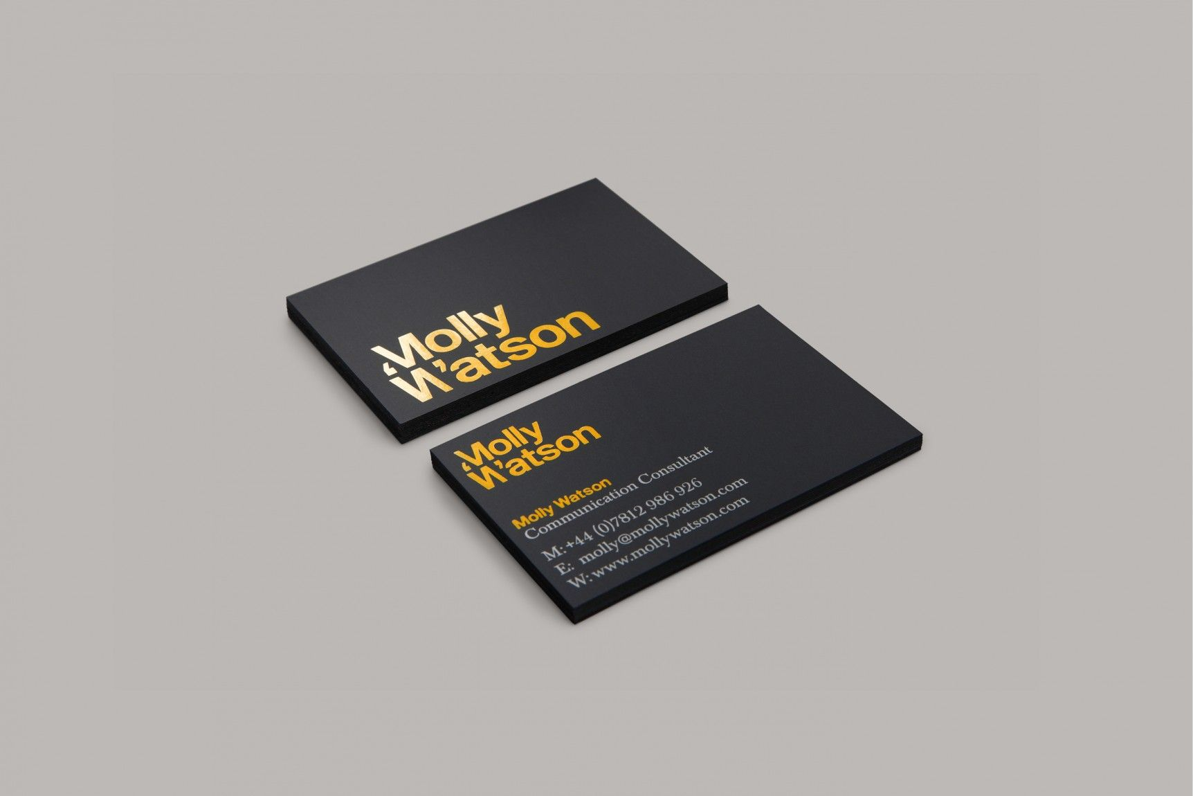 Branding & business Card design for Molly Watson (a communications ...
