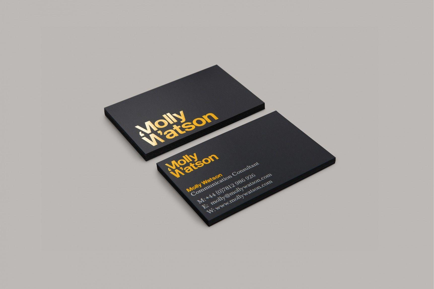 Branding business card design for molly watson a communications branding business card design for molly watson a communications specialist by studio blackburn reheart Choice Image