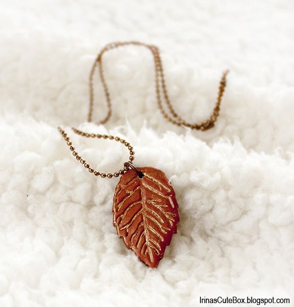 How to make polymer clay leaves