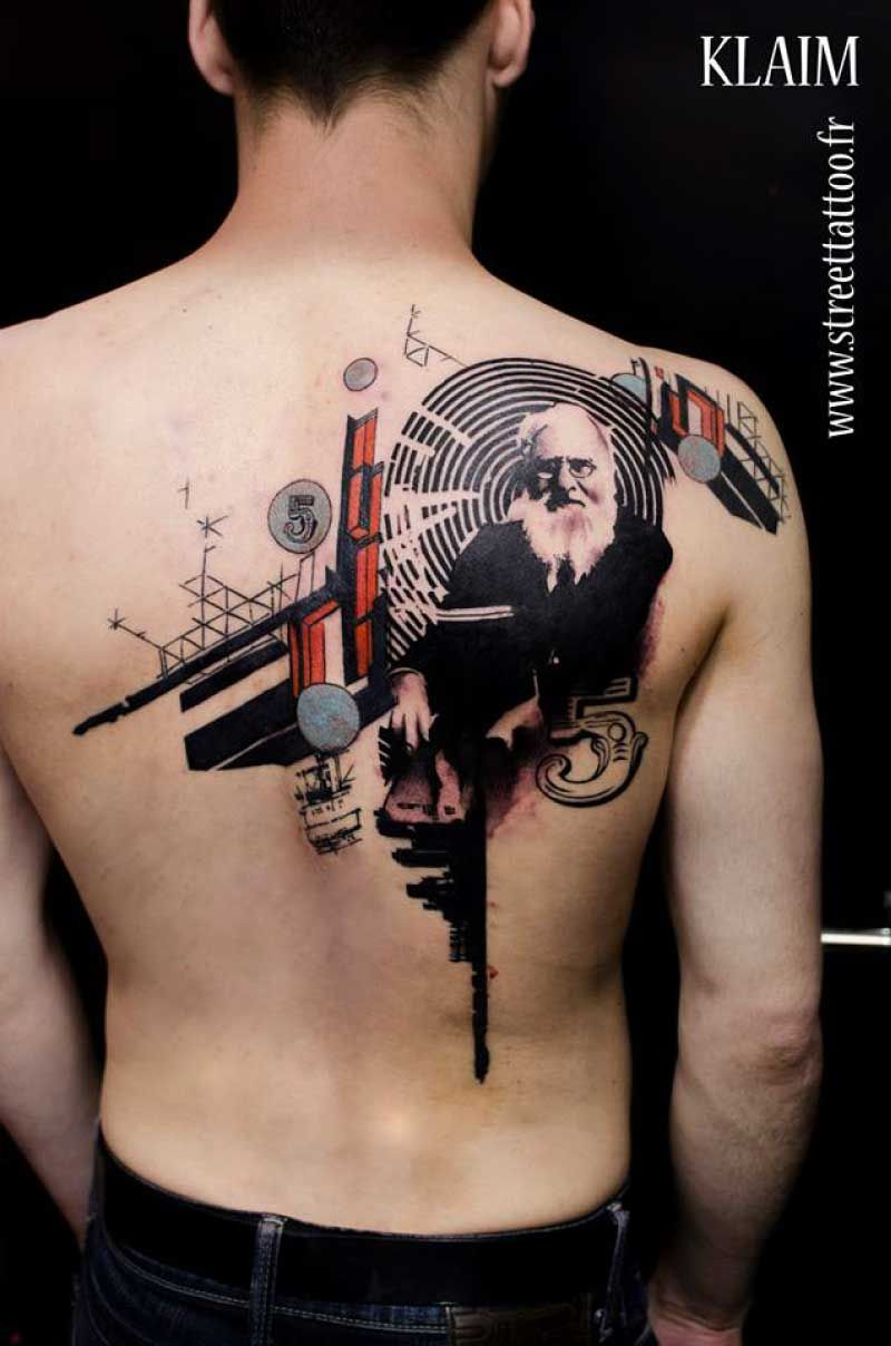 9 Creative Tattoo Designs Mixed With Painting Digital Art Graphic Design And Graffiti By French Tattoo Designs Creative Tattoos Biomechanical Tattoo Design