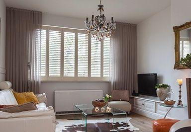 Met shutters in de #woonkamer heeft u een prachtige en waardevolle ...