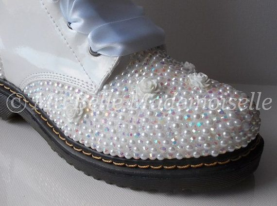 Your Place To Buy And Sell All Things Handmade Dr Martens Style Bride Boots Best Bridal Shoes
