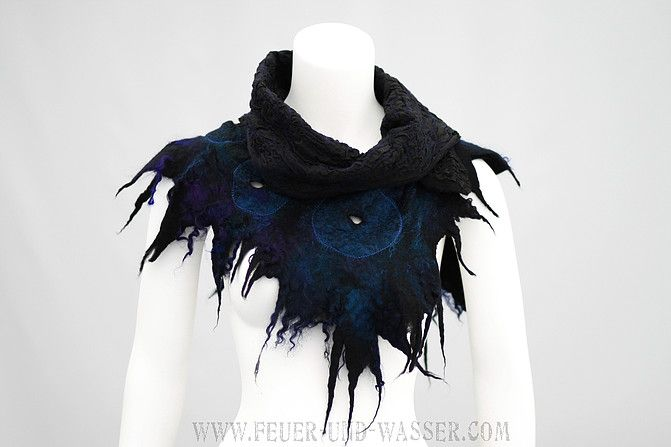 Feuer Und Wasser | Handmade felted art scarves | Made in USA