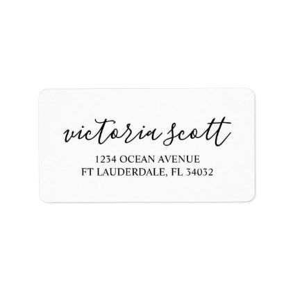 Modern Personalized Return Address Labels  Chic Design Idea Diy